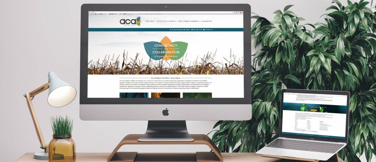 Accredited Certifiers Association's website on computer and laptop