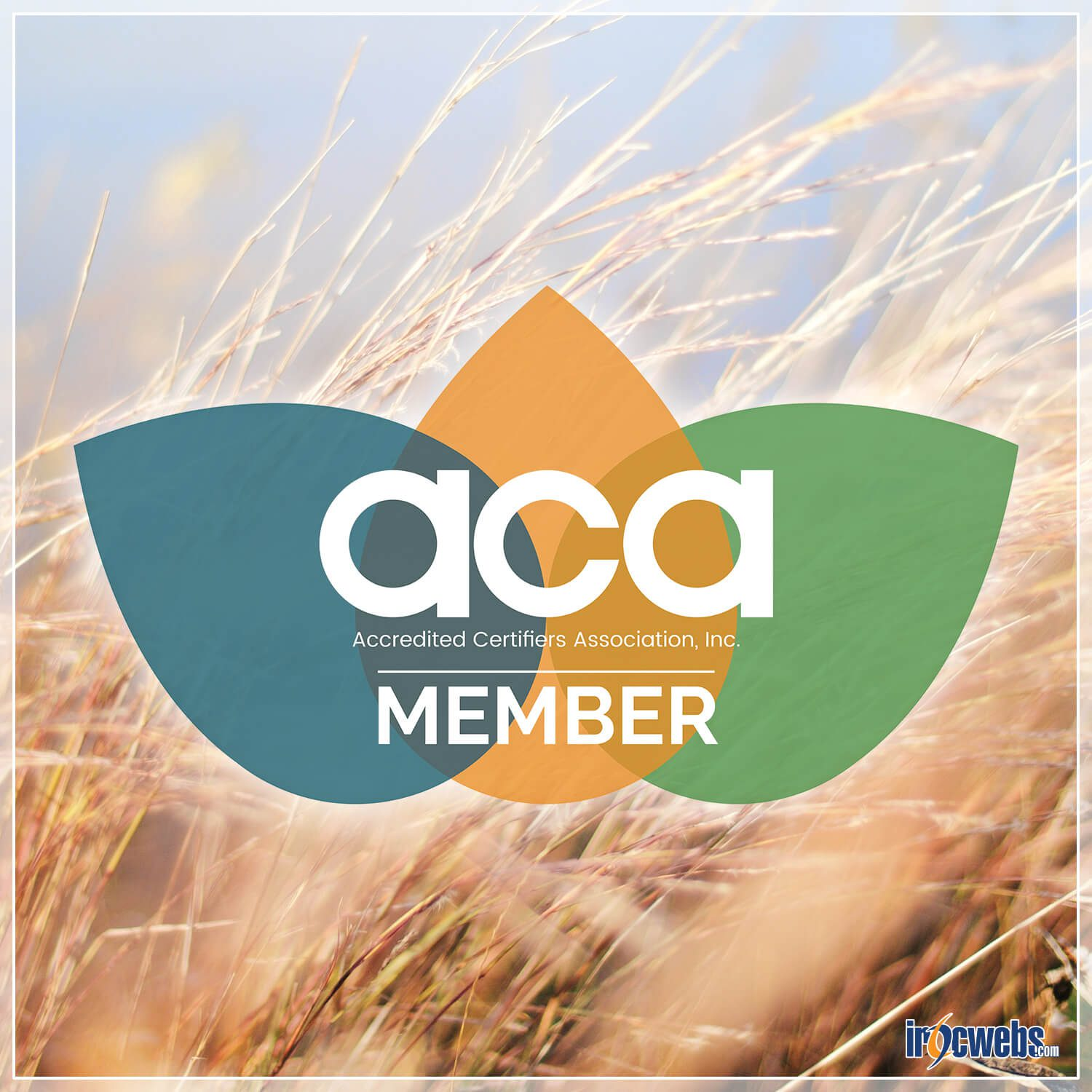 Accredited Certifiers Association's Membership Logo with Iowa Background